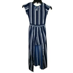 Japna Kids Striped Walkthrough Romper Dress Size 8
